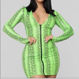 Snake Dress Fashion Nova XL Mini Size 12 to 14
